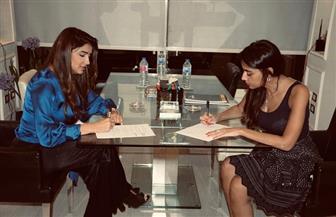 مي عمر تتعاقد مع سارة الطباخ لإدارة أعمالها الفنية صور