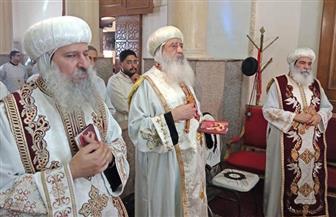 إقامة قداس الذكرى السنوية الأولى لرحيل الأنبا بيشوي بدير القديسة دميانة بالبراري | صور
