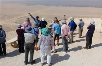 وفد سياحي ألماني يزور المناطق الأثرية بمحافظة المنيا