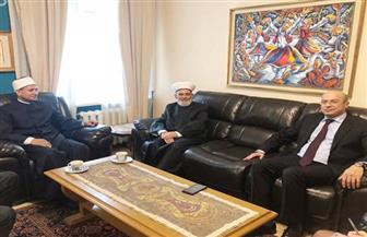 سفير مصر بكييف يستقبل مفتي أوكرانيا ورئيس الإدارة الدينية للمسلمين