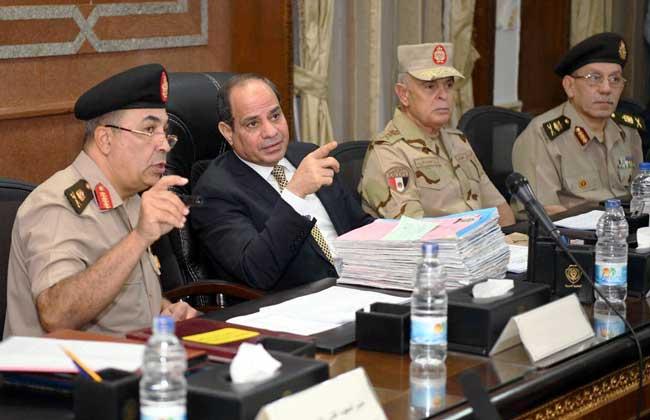 الرئيس السيسي يتفقد الكلية الحربية ويحضر اختبارات كشف الهيئة للطلبة الجدد   صور -