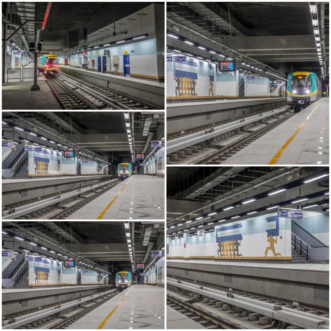 وزارة النقل تفتتح محطة مترو هليوبوليس