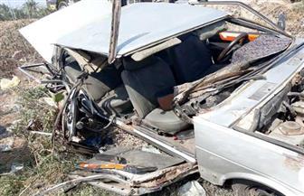 مصرع ٣ أشخاص وإصابة ٤ آخرين في حادث تصادم بالطريق الدولي الساحلي بكفرالشيخ| صور
