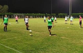 تدريبات بدنية لمنتخب الكرة النسائية