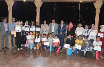 """فوز 15 طالبا بمدارس المنيا في المسابقة الفنية السنوية """"لمحات من الهند"""""""