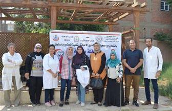 إعلام الجنوب ومعهد الأورام ينظمان قافلة طبية بقرية المسعودي في أبوتيج | صور