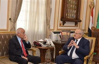 رئيس جامعة القاهرة يستقبل فاروق الباز لعرض تجربته على طلاب الجامعة | صور