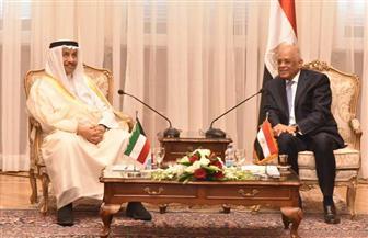 عبدالعال يستقبل رئيس مجلس الوزراء الكويتي | صور