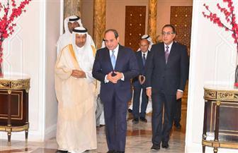 تفاصيل لقاء الرئيس السيسي برئيس مجلس الوزراء الكويتي | صور