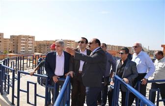 نائب محافظ الإسماعيلية يتفقد محطة مياه الشرب الجديدة بمدينة المستقبل