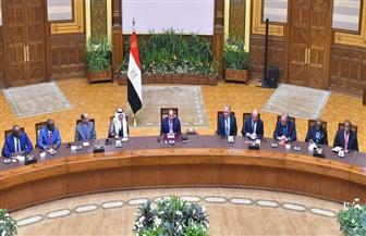الرئيس السيسي يستقبل رؤساء وفود الدول المشاركة في فعاليات أسبوع القاهرة للمياه