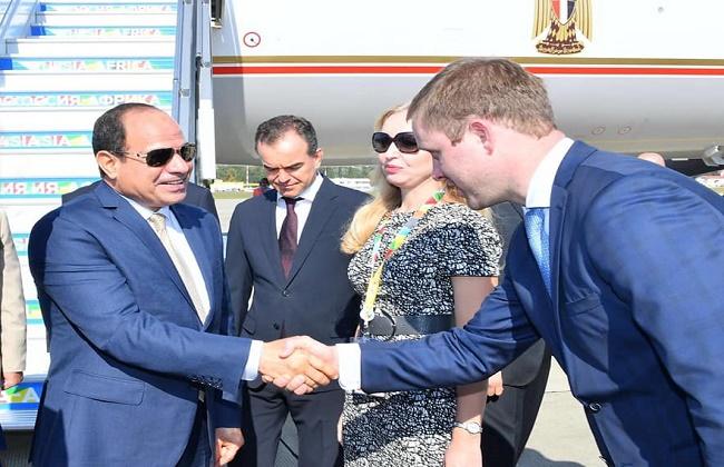 الرئيس السيسي يصل إلى  سوتشي  لرئاسة القمة  الإفريقية - الروسية  بالمشاركة مع بوتين  فيديو وصور -