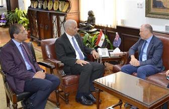 رئيس جامعة الإسكندرية يستقبل سفير أستراليا بالقاهرة لبحث التعاون | صور
