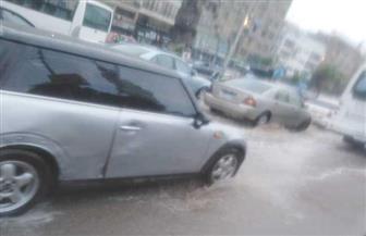 بسبب الأمطار.. كثافات مرورية عالية بكوبري أكتوبر ومصر الجديدة | صور