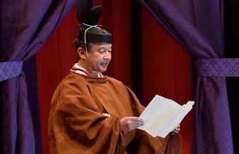 إمبراطور اليابان يجلس على العرش بحضور ملوك العالم | صور