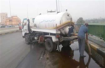 الجيزة: شفط المياه بمحور صفط اللبن وطريق مصر الإسكندرية الصحراوي   صور