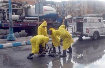 مياه مطروح: الدفع بفرق الطوارئ للتعامل مع الأمطار والسيول| صور