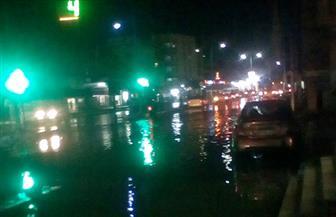 أمطار غزيرة ورعدية على مدينة مرسى مطروح