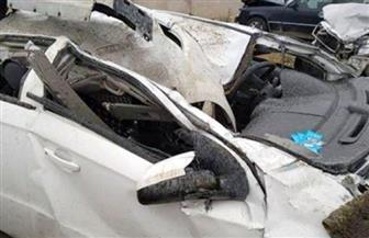 إصابة 4 أشخاص فى حادث مروري أعلى الدائري