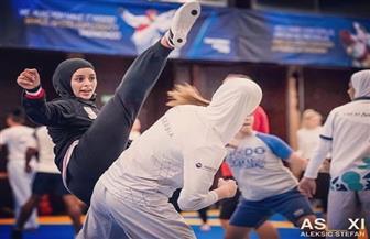 نور حسين تحرز فضية التايكوندو بالألعاب العسكرية العالمية بالصين