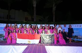 """ملكات جمال بلجيكا يرفعن علم مصر في مدينة الحب والسلام """"شرم الشيخ """""""