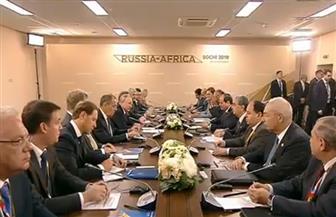 بدء القمة المصرية - الروسية بين الرئيسين السيسي وبوتين في سوتشي