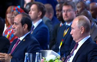 الرئيسان السيسي وبوتين يصلان الجلسة الافتتاحية للمنتدى الاقتصادي الإفريقي الروسي
