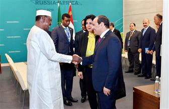 الرئيس السيسي يؤكد حرص مصر على تعزيز وتطوير العلاقات مع تشاد   صور