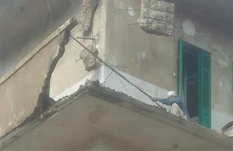 انهيار شرفة منزل في الغربية بسبب الأمطار