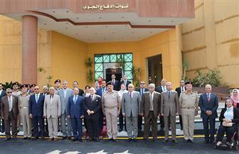 لجنة الدفاع والأمن القومي وأعضاء من مجلس النواب يزورون قيادة قوات الدفاع الجوي
