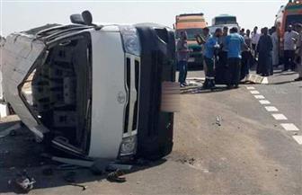 مصرع موظف وإصابة اثنين آخرين في حادث انقلاب سيارة بسوهاج