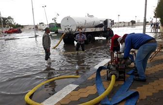 بورسعيد تواصل الجهود لشفط مياه الأمطار