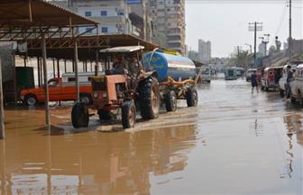 رفع درجة الاستعداد بالدقهلية لمعالجة تجمعات مياه الأمطار| صور