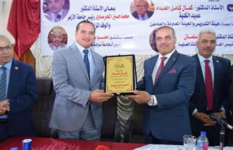 رئيس جامعة سوهاج يستقبل رئيس جامعة الأزهر بكلية الدراسات الإسلامية