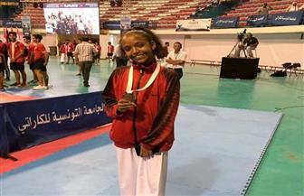 فاطمة عبد الناصر تفوز بفضية بطولة العالم لناشئي الكاراتيه