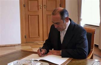 سفير مصر الجديد لدى ألمانيا يقدم أوراق اعتماده إلى الرئيس الألماني | صور