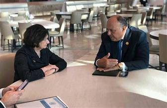 شكري يلتقي مع وكيلة سكرتير عام الأمم المتحدة للشئون السياسية وبناء السلام   صور