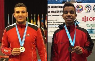 أحمد أيمن وحازم أحمد يتوجا بذهبية ببطولة العالم لناشئي الكاراتيه