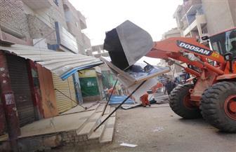 إزالة 592 حالة إشغال وتحرير 13 محضرا في حملة مكبرة بإهناسيا في بني سويف|صور