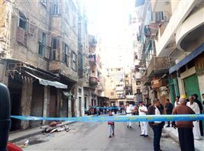 مصرع سيدة في انهيار جزئي لعقار بالإسكندرية بسبب الأمطار| صور