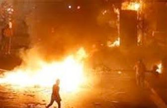متظاهرون بمنطقة البدوي بلبنان يشعلون الإطارات رفضا لمحاولات الجيش فتح الطرقات