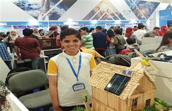 """الطفل """"أنس"""" بجامعة السويس يحصل على المركز الأول بمعرض القاهرة للابتكار"""