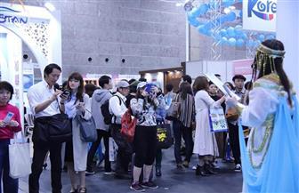إقبال كبير على الجناح المصري بمعرض اليابان الدولي للسياحة| صور