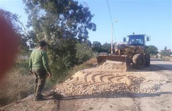 محافظ كفر الشيخ يأمر بسرعة إصلاح هبوط أرضي على طريق الرياض | صور