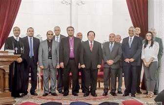 رئيس الإنجيلية يشهد رسامة شيوخ وشمامسة جدد لكنيسة السراي الإنجيلية بالإسكندرية   صور