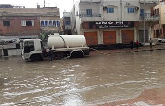 محافظ شمال سيناء: استمرار إزالة آثار الأمطار بالشوارع