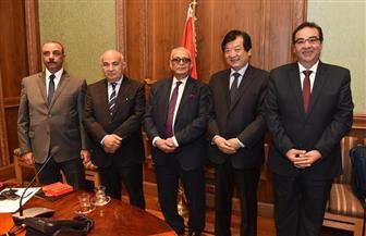 رئيس حزب الوفد يستقبل وفدا برلمانيا صينيا في مجلس النواب