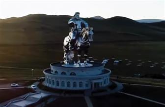تمثال جنكيز خان سفاك الدماء مزار سياحي عالمي في منغوليا | فيديو