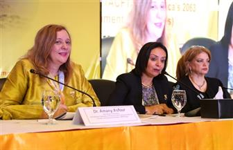 مايا مرسي: الموازنة بين العمل والأسرة هي التحدي الأكبر لدخول المرأة بالمجال الاقتصادي | صور