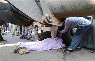مصرع أمين شرطة وغفير بحادث تصادم أعلى كوبري الصافورية بميت غمر | صور